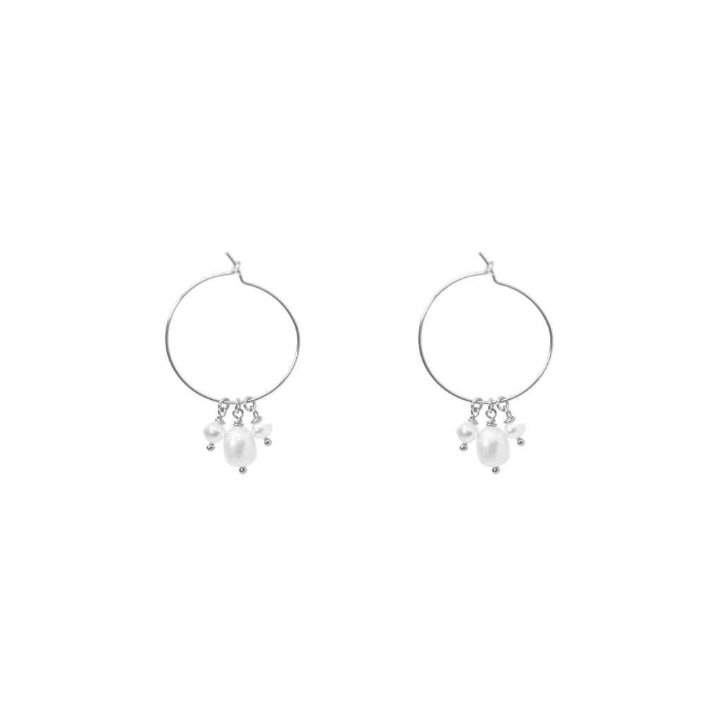 Hope Hoops | Pearl Silver