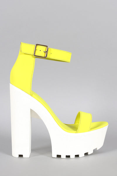 208f3e83181 Wild Diva Lounge Neon Nubuck Ankle Strap Lug Sole Platform Heel – The Shoe  and Scarf