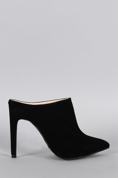 da88c2c1b Anne Michelle Suede Pointy Toe Mule Pump – The Shoe and Scarf