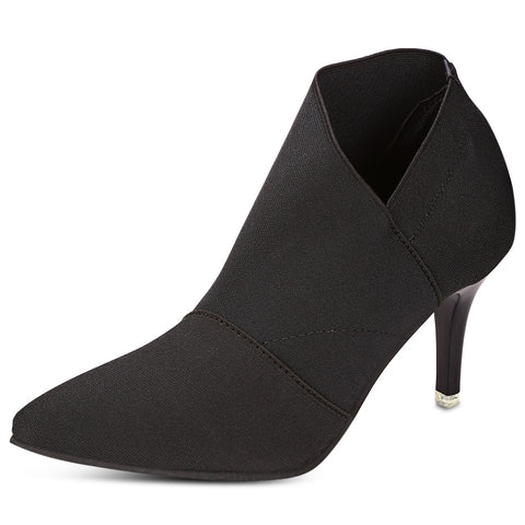 Women Autumn Pointed Toe High-heeled Slip-on Ankle Boots