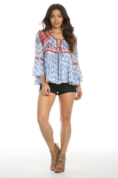 Coastal Caves Blouse