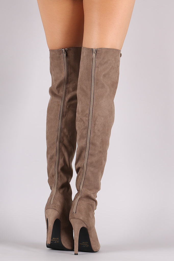 3187375abd4 Qupid Lace Up Peep Toe Over-The-Knee Boot – Purposed By Design ...