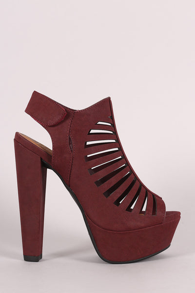 Speed Limit 98 Strappy Cutout Slingback Mule Heel