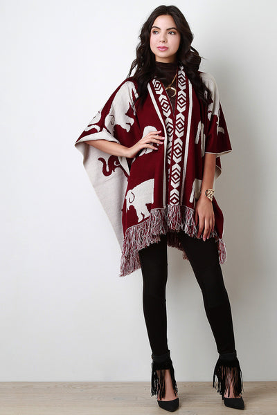 Elephant Draping Fringe Cape