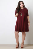 Half Sleeve Shift Dress