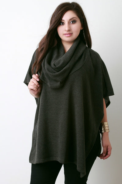 Cowl Neck Open Sides Poncho Top