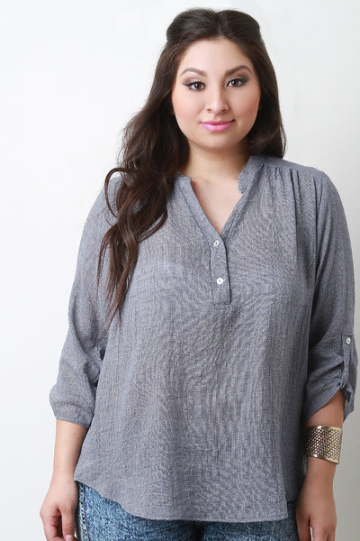 Double Button Placket Top