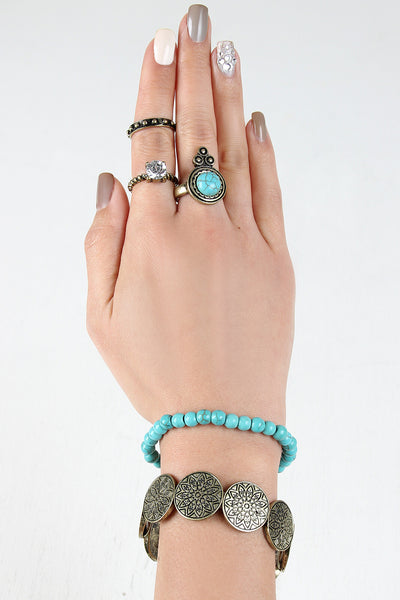 Southwestern Stone Bracelet and Ring Set