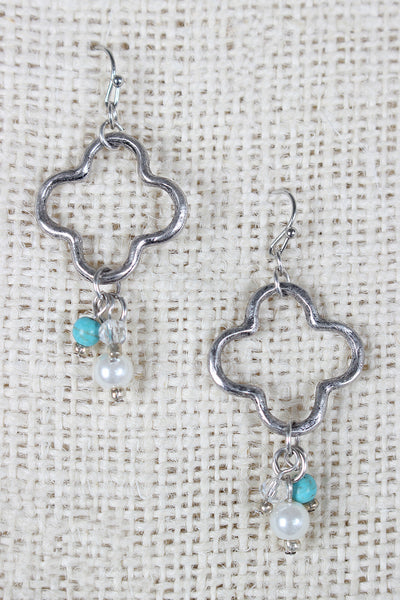 Quatrefoil Dangle Earrings