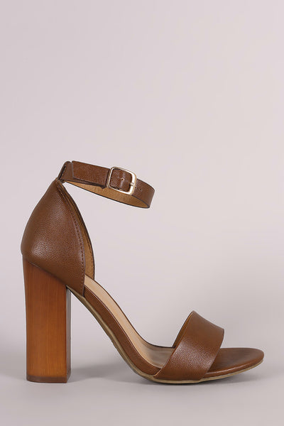 7e08d0fb3a3 Bamboo Open Toe Ankle Strap Chunky Heel – Purposed By Design (Honey Skies)