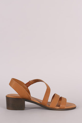 3f1b8d3258f Sold Out Bamboo Strappy Asymmetrical Block Heel Sandal