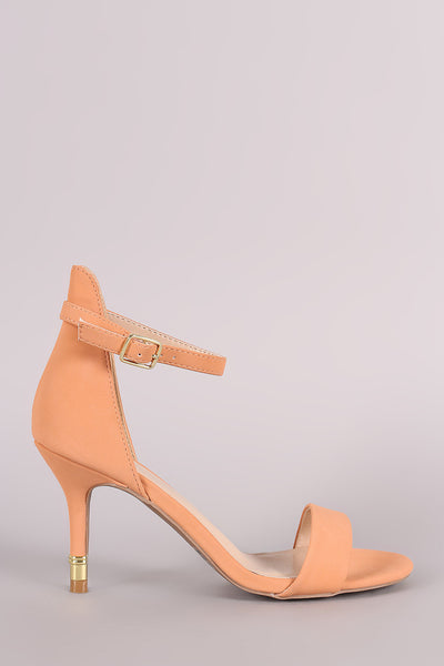 Qupid Open Toe Gold Kitten Heel