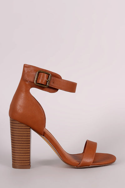 Single Band Ankle Cuff Chunky Heel