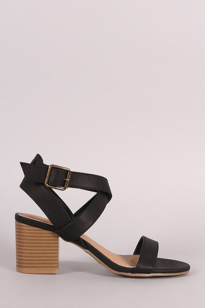 1c0643e914a Bamboo Crisscross Ankle Strap Chunky Block Heel – Purposed By Design (Honey  Skies)