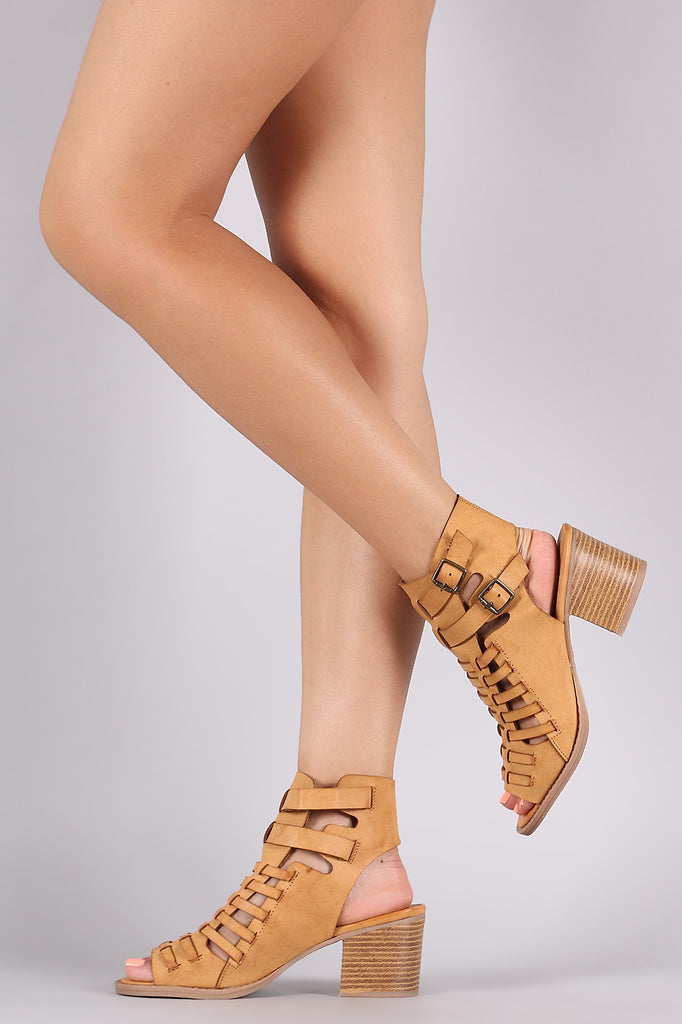 9a1ce53cafc2 Qupid Huarache Open Toe Chunky Heel – Purposed By Design (Honey Skies)