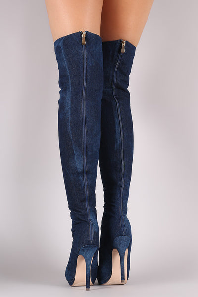 c6bb77622c Liliana Denim Lace Up Stiletto Heeled Over-The-Knee Boots – Purposed By  Design (Honey Skies)