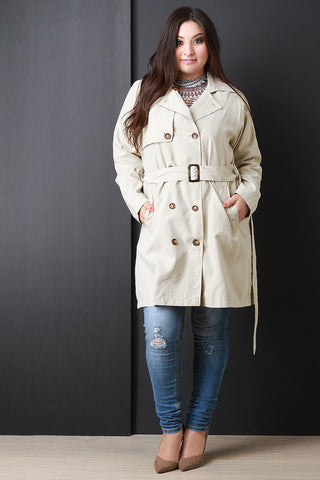 Belt Sash Lightweight Soft Trench Coat