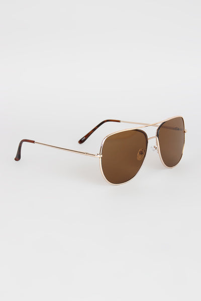 Wire Frame Double Bridge Aviators