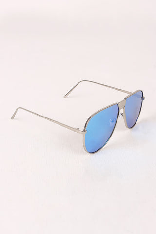Fresh Mirrored Lens Aviator Sunglasses