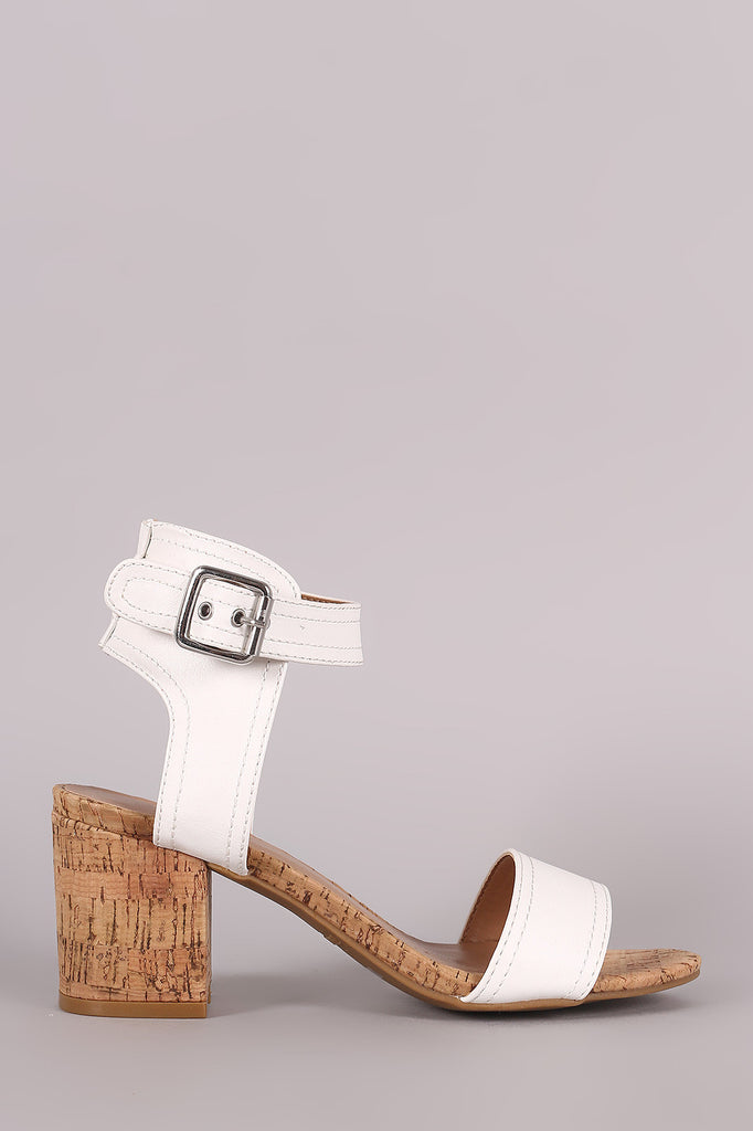 16bd2ccf757 Bamboo One Band Ankle Strap Cork Block Heel – Purposed By Design ...