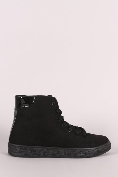 Bamboo Suede Lace-Up High Top Sneaker