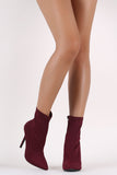 Wild Diva Lounge Elastane Pointy Toe Stiletto Booties