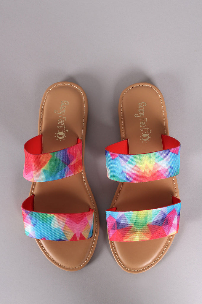 ab8a6226d60b Sunny Feet Printed Double Band Slide Flat Sandals – Purposed By ...