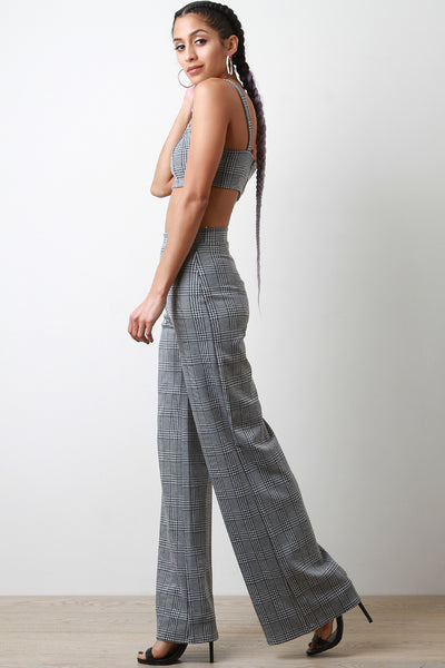 106d7439b05e Glen Plaid Crop Top with Palazzo Pants Set – Purposed By Design (Honey Skies )