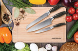 4-PC KNIFE SET WITH BAMBOO CUTTING BOARD, 8""