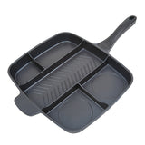5-Section Non-Stick Cast Aluminum Skillet, 15""