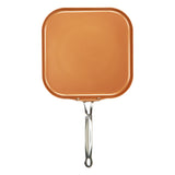 GRIDDLE / CREPE PAN, COPPER COLOR CERAMIC NON-STICK COATING, 11""