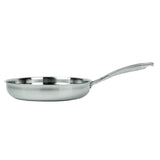3-PLY FRY PAN & SKILLET STAINLESS STEEL & ALUMINUM SCRATCH-RESISTANT, 9""