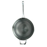 CHEF'S WOK & GLASS LID, 3-PLY STAINLESS STEEL & ALUMINUM SCRATCH-RESISTANT, 12""