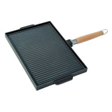 Double Sided Grill and Griddle with Removable Handle, 15""