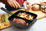 2-Section Non-Stick Cast Aluminum Skillet, 11""