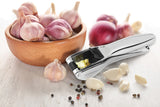 GARLIC PRESS WITH EASY FLIP LEVER CHROME PLATED ZINC ALLOY, 8""
