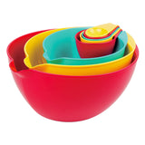 MIXING & MEASURING BOWL NESTED, 8 PIECE SET