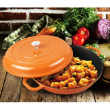 "3 QT.  CAST ALUMINUM DUTCH OVEN CASSEROLE, 11"" (ORANGE)"