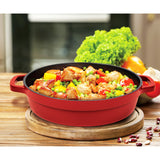 "4 QT.  CAST ALUMINUM DUTCH OVEN CASSEROLE, 11"" (RED)"