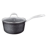 2 QT. SAUCE PAN WITH GLASS LID NON-STICK CAST ALUMINUM GRANITE LOOK FINISH, 7""