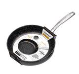 FRY PAN & SKILLET NON-STICK CAST ALUMINUM GRANITE LOOK FINISH, 11""