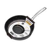 FRY PAN & SKILLET NON-STICK CAST ALUMINUM GRANITE LOOK FINISH, 9.5""