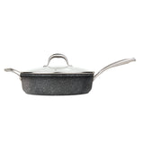 5 QT. SAUTE PAN WITH GLASS LID NON-STICK CAST ALUMINUM GRANITE LOOK FINISH, 11""