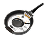 FRY PAN & SKILLET NON-STICK CAST ALUMINUM DIAMOND DESIGN, 9.5""