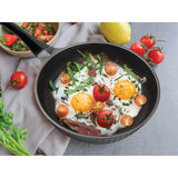 FRY PAN & SKILLET NON-STICK CAST ALUMINUM DIAMOND DESIGN, 11""