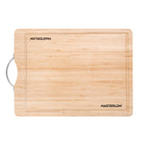 "MASTERLON 3-PC Knife Set With Bamboo Cutting Board 8"" Black"