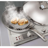 Stovetop Stainless Steel 4-IN-1 Smoker Wok - 13""