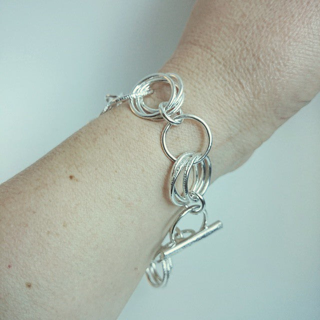 "Three Chain ""Classics"" Sterling Silver Bracelet"