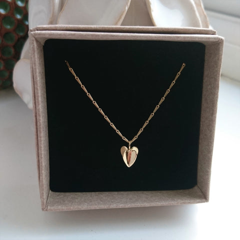 9ct Gold Sweet Hearts Pendant and Chain