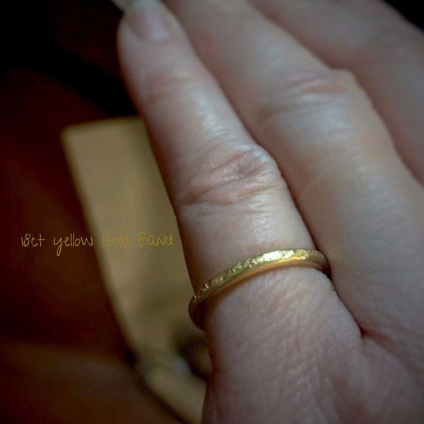 "Gold ""Classics"" Hammered Textured Band"